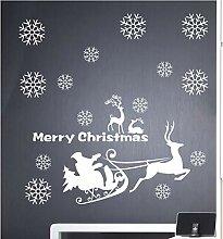 ZBYLL Fensteraufkleber Weihnachten Wandaufklebern