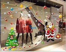 ZBYLL Fensteraufkleber Weihnachten Wohnzimmer Haus