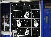 ZBYLL Schneemann Fensteraufkleber
