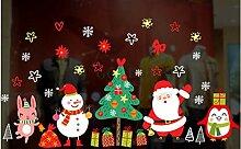 ZBYLL Weihnachten Fensteraufkleber Cartoon Penguin