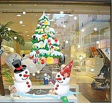 ZBYLL Weihnachten Fensteraufkleber Cartoon