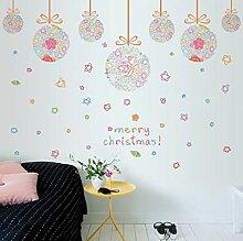 ZBYLL Weihnachten Fensteraufkleber Christmas Ball