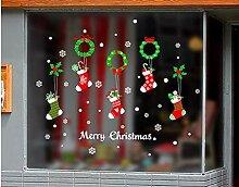 ZBYLL Weihnachten Fensteraufkleber Dekorationen