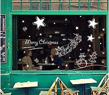 ZBYLL Weihnachten Fensteraufkleber Dekorative