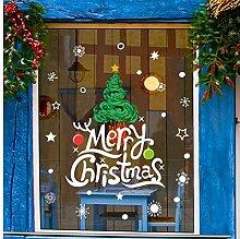 ZBYLL Weihnachten Fensteraufkleber Frohe