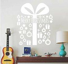 ZBYLL Weihnachten Fensteraufkleber Grüne Wand