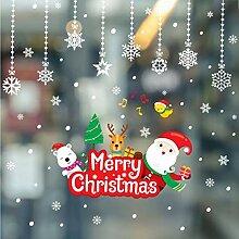 ZBYLL Weihnachten Fensteraufkleber Hängende