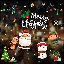 ZBYLL Weihnachten Fensteraufkleber Kleiner