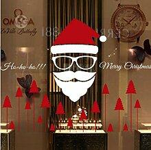 ZBYLL Weihnachten Fensteraufkleber Santa Aufkleber