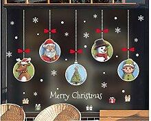ZBYLL Weihnachten Fensteraufkleber Schneeflocke