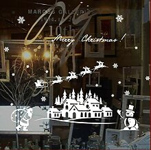 ZBYLL Weihnachten Fensteraufkleber Weihnachten Elk