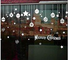 ZBYLL Weihnachten Fensteraufkleber Weihnachten