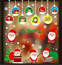 ZBYLL Weihnachten Fensteraufkleber