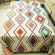 ZC&J American Village Retro Tischtuch Tischdecke, rechteckige Couchtisch Tischdecke Abdeckung, staubfreie praktische Verschleißfeste Multifunktionsabdeckung,A,140*180cm