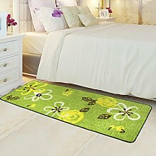 ZC&J Bett Schlafzimmer Teppich, saugfähige rutschfeste Matten, leicht Fleck zu reinigen, rechteckiger Teppich,B6,19.6in*31.4in
