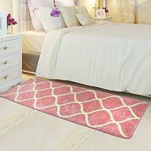 ZC&J Bett Schlafzimmer Teppich, saugfähige rutschfeste Matten, leicht Fleck zu reinigen, rechteckiger Teppich,B8,19.6in*31.4in
