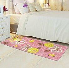 ZC&J Bett Schlafzimmer Teppich, saugfähige rutschfeste Matten, leicht Fleck zu reinigen, rechteckiger Teppich,A8,31.4in*47.2in