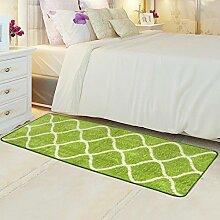 ZC&J Bett Schlafzimmer Teppich, saugfähige rutschfeste Matten, leicht Fleck zu reinigen, rechteckiger Teppich,A7,19.6in*31.4in
