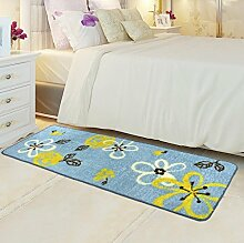 ZC&J Bett Schlafzimmer Teppich, saugfähige rutschfeste Matten, leicht Fleck zu reinigen, rechteckiger Teppich,A2,19.6in*31.4in