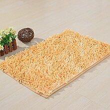 ZC&J Chenille Teppich-Fußmatten, Küche, Wohnzimmer Schlafzimmer der Teppich, weicher Plüschteppich Textur, leicht Fleck zu reinigen, rechteckiger Teppich,A3,15.7in*23.6in