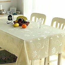 ZC&J Einfache moderne Tischdecke im europäischen Stil, für Couchtisch Tisch Tisch rechteckige Tischdecke, multifunktionale Staubkissen Tischdecke,A,140*180CM
