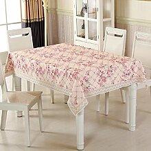 ZC&J Europäische Pastoral-Stil Tischdecken, Heimtextilien Tischdecken, Couchtisch, Esstisch, Hotel, Café, Mehrzweck-Staubdecke Tuch,B1,100*100cm