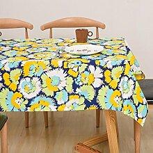 ZC&J Europäischen Stil Garten Stil Tischdecke, Familie Mehrzweck Tischdecke Deckel Tuch, gelten für Schreibtisch, Couchtisch, Esstisch, Picknick im Freien,A,140*250cm
