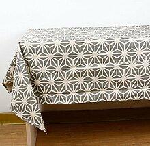 ZC&J Grau Leinen Tischdecke Tischdecke, hochwertiges Heimtextilien Tuch, leicht zu reinigen Verschleiß-resistent praktische, multifunktionale Staub Abdeckung Tuch,A,90*90cm