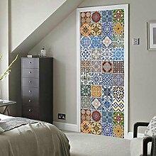 ZC&J Haus Schlafzimmer Wohnzimmer dekorativen Türaufkleber, HD drucken Aufkleber, selbstklebende wasserdichten PVC-Türaufkleber,A2,77*200cm