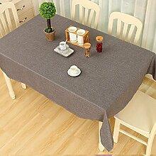 ZC&J Hochwertige hochwertige Baumwolle und Leinen reine Farbe Tischdecke Multifunktions-Deckel Tuch, gelten für das Wohnzimmer Couchtisch rechteckige Tisch Tisch Staub Tischdecke,D,70*70Cm