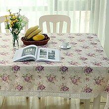 ZC&J Hochwertige Polyester Staubdichte leicht zu reinigen Tischdecke Tischdecke für Haus Restaurant, Hotel, Outdoor Picknick-Matte,B,140*180CM