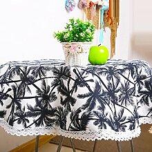 ZC&J Home rutschfeste Tischtücher, ländliche Pastoral-Tischdecke, leicht zu reinigen Verschleiß-resistent praktische, multifunktionale Staubschutztuch,A,140*140cm
