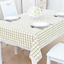 ZC&J Indoor-Tisch, Couchtisch, Schreibtisch, rechteckige Baumwoll-Tischdecke Tischdecke, kontinentaler Stil, hochwertige Tischdecke,A5,140*200cm