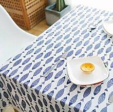 ZC&J Japanische einfache Leinen Tischdecke Kaffeetisch Tuch Tuch Computer Schreibtisch Decke Handtuch Spitze Staubdicht Partei Picknick Tischdecke,C,140*220cm