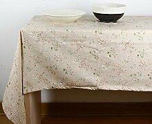 ZC&J Klassische pastorale Tischdecke Tischdecke, Baumwolle und Leinen High-Level Heimtextilien Tuch, leicht zu reinigen und zu tragen praktische, Outdoor-Picknick-Matte,A,140*200cm