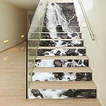 ZC&J Kreative high-definition druck landschaft aufkleber, home corridor treppen dekorative aufkleber, pvc wasserdichte selbstklebende aufkleber,13pcs,100*18cm