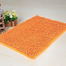 ZC&J Mikrofaser Chenille Teppich-Matten, Bad WC absorbierende Matten, weiche Plüsch-Textur, rechteckiger Teppich,A1,15.7in*23.6in