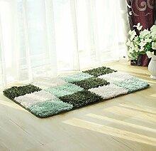 ZC&J Mikrofaser Fußmatte, Bad Wohnzimmer Schlafzimmer Teppichbodenmatten , leicht Fleck zu reinigen, rechteckiger Teppich,A3,17.7in*29.5in