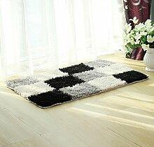 ZC&J Mikrofaser Fußmatte, Bad Wohnzimmer Schlafzimmer Teppichbodenmatten , leicht Fleck zu reinigen, rechteckiger Teppich,A2,19.6in*31.4in