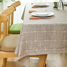 ZC&J Moderne einfache Tischdecke, hochwertige Baumwolle und Leinen Tägliche Haushalt Tischdecke, Staub, Schmutz, Tragen, Mehrzweck Tischdecke,B,110*170cm