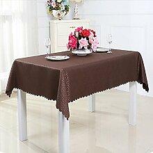 ZC&J Modische Luxus Konferenztisch Staubschutz, rechteckigen Tisch, Couchtisch Tuch, Verschleiß Widerstand, Schmutz, leicht zu reinigen,A,160*160cm