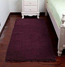 ZC&J Schlafzimmer Teppich, Betteinlagen , dicke Matten Schlafzimmer Wohnzimmer, einfach Fleck zu reinigen, rechteckiger Teppich,A8,15.7in*23.6in