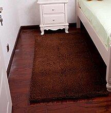 ZC&J Schlafzimmer Teppich, Betteinlagen , dicke Matten Schlafzimmer Wohnzimmer, einfach Fleck zu reinigen, rechteckiger Teppich,A2,27.5in*55.1in