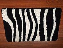 ZC&J Silky flauschige Matten, Bad Wohnzimmer Türen zum Schlafzimmer Teppich, Fleck leicht zu reinigen, rechteckigen Teppich(15.7in*23.6in,19.6in*31.4in,23.6in*35.4in),black,19.6in*31.4in