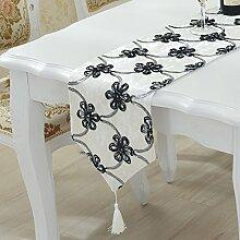 ZC&J Wildleder Tischläufer für Bankett Hochzeitsdekoration, europäisch anmutende grüne staubdicht, Anti-Rutsch, Mehrzweck Tischläufer,A1,28*210cm