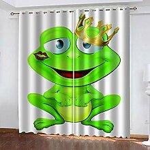 ZCFGG Gardinen Blickdicht Frosch