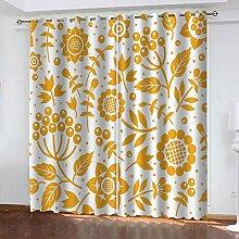 ZCFGG Gardinen Blickdicht Sonnenblume mit gelbem