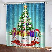 ZCFGG Gardinen Blickdicht Weihnachten