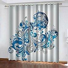 ZCFGG Vorhänge Blickdicht Kreative Kunstvase