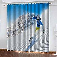ZCFGG Vorhänge Blickdicht Skifahren